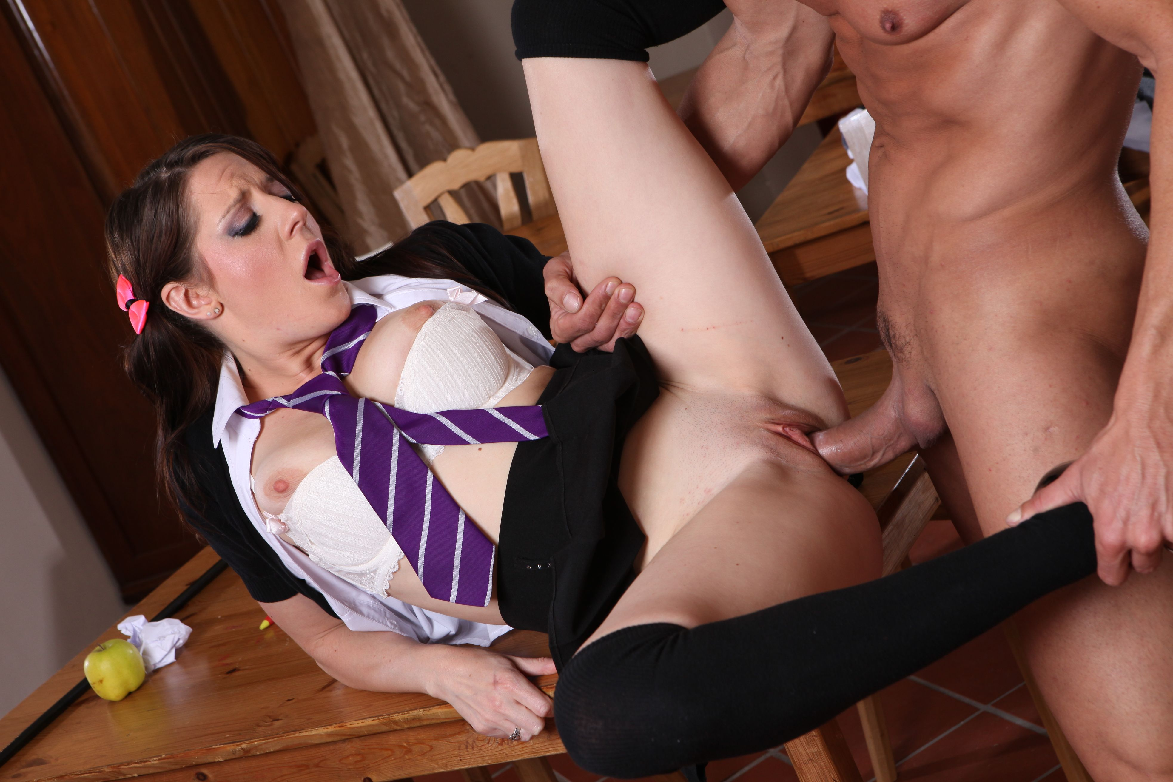 Fucked On Teachers Desk In His Office With Little Candy Needing Extra Cock Help